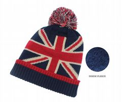 Ladies thermal beanie hat union jack hat HT762891